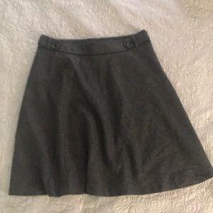 Merona Charcoal Wool Blend Skirt Size 16. NWOT!